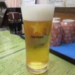 きくよ食堂 - 生ビール 530円(税別)