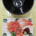 きくよ食堂 - 牡丹えび刺身 960円(税別)