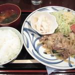 祖月輪 - 生姜焼き定食