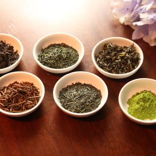 玉露・ほうじ茶・紅茶をはじめ日本茶<全6種類>をご用意◇