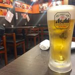 Nikumotsuyajimbou - 生ビール(アサヒ)中 380円