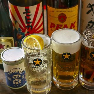 焼酎&梅酒オール500円!個性豊かな日本酒は500円~