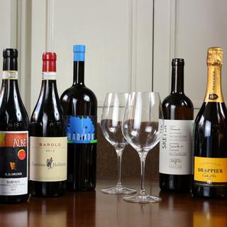 シチリア料理と合わせてイタリア・フランス産の自然派ワインを。