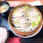 yakuzennabebutashabusemmontennishitani - 豚肉と白菜のミルフィーユせいろ蒸し