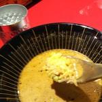 スパイスらぁめん 釈迦 - ターメリックライスのスープ漬け