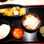 山の猿 - 豆腐・野菜の煮おろし御膳 (¥850)