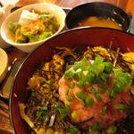 よしの瀬 - 日替わりランチのネギトロ丼 700円