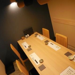 完全個室で味わう、旬食材を使ったお料理とお酒…