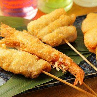 ◆豊洲直送の海鮮串カツ!!サクサク軽い食感で召し上がれ♪