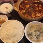 珍味苑 - 料理写真:麻婆豆腐定食\650(税別)