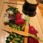 10271561 - 東金産有機野菜のバーニャカウダ(1,200円)