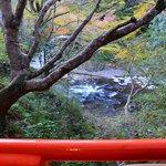 指月亭 - 清滝川を見ながら熱いコーヒーを飲み、良い休息になりました。