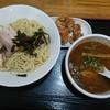 サクラ - 料理写真:鯛だしつけ麺大盛と唐揚げ