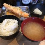 天ぷら さいとう 博多 - 野菜二種と豚ヒレ! ご飯&味噌汁のクオリティは低い。