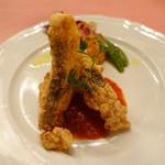 ピッツェリア・サバティーニ - 長崎直送鮮魚(真鯛)のフリットトマトヴィネガーソース