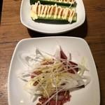 温野菜 - キュウリ明太マヨのせ/ローストビーフ