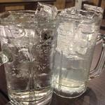 ヤキブタ酒場 大門屋 - シンプルなプレーン酎ハイで乾杯 カッキーン☆カンパチ この時点でちょっとレロレロ