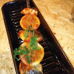 102729427 - 日替わり鮮魚のBBQブロシュット串焼き