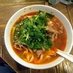 中華第一家 杜記 - 水煮羊肉麺、パクチー増量