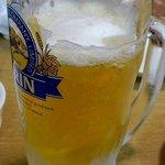 10274219 - この日はひたすらビール。泡が凍ってました。なんで?