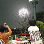スウィートハート・カフェ - 外のテラス席ではパレードや花火を見れます