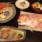 割烹 千代 - 甘鯛コースの一例