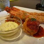 レストラン クレール - 有頭海老フライとカニクリームコロツケセット1180円