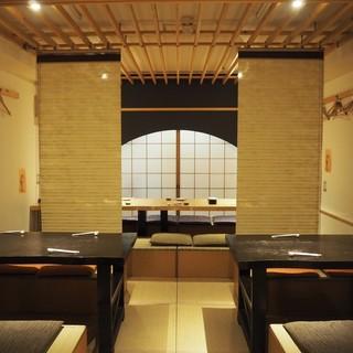 接待・顔合わせなど、特別な日のお食事には大型個室をどうぞ。