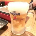 炭火串文化 あぶりや - 生ビール 500yen