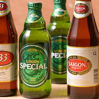 リゾート感たっぷりの南国カクテルやベトナムビールが人気☆