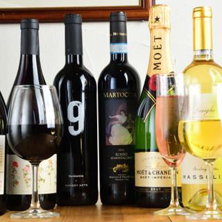 豊富なワイン、旬の日本酒、リッチなハイボールなどドリンク充実