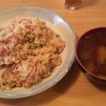 モト - 納豆炒飯+ずいきのお味噌汁(期間限定)750