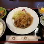 すき焼き・割烹 かとう - 牛生姜焼き定食 1000円