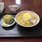 西海食堂 - 料理写真:タヌキ中華+おにぎり