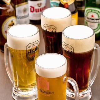 ビールの種類は常時20銘柄以上!