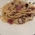 caffe trattoria D'oro - 鶏肉と有機野菜のペペロンチーノ