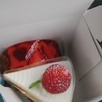 ひなたスイーツ - イチゴのケーキ、イチゴロール