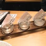 ベジ串 創作おでん ぬる燗佐藤 - スパークリング日本酒飲み比べセット