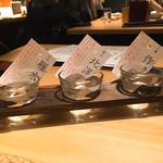 ベジ串 創作おでん ぬる燗佐藤 - オススメ日本酒飲み比べセット