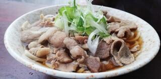 南天 本店 - 肉そば¥390(肉の日価格)