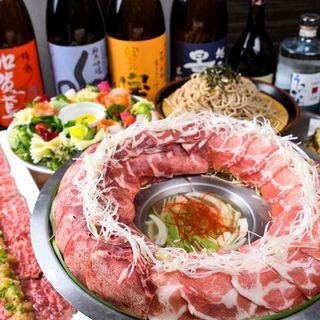 三重県産「松阪豚」を使用した肉炊き鍋コース!