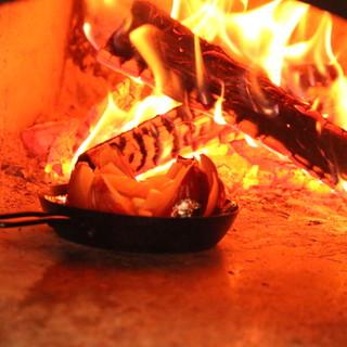 奈良食材を薪窯料理でいただく!