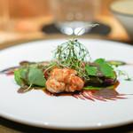 アルテレーゴ - 料理写真:鴨 シヴェソース (ビーツ ネーブル)
