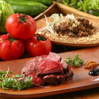 篠山住山地区の鹿肉と野菜をメインに使用