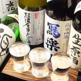 店主厳選!日本全国の地酒25種以上を取り揃え