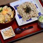 サガミ - 贅沢名古屋コーチン丼と麺
