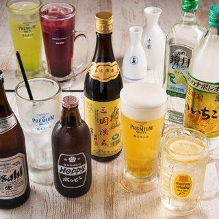 絶品中華でお酒もすすむ♪豊富なドリンクをご用意しております!