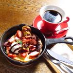 札幌 宮の森珈琲 - 苺のダッチベイビー