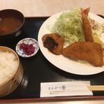 とんかつ 芳 - 料理写真:ミックスフライ定食 1000円