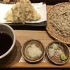 石月 - 料理写真:海老と冬野菜の天せいろそば